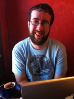 Photo of Justin Thorp at SOVA Coffee & Wine Bar